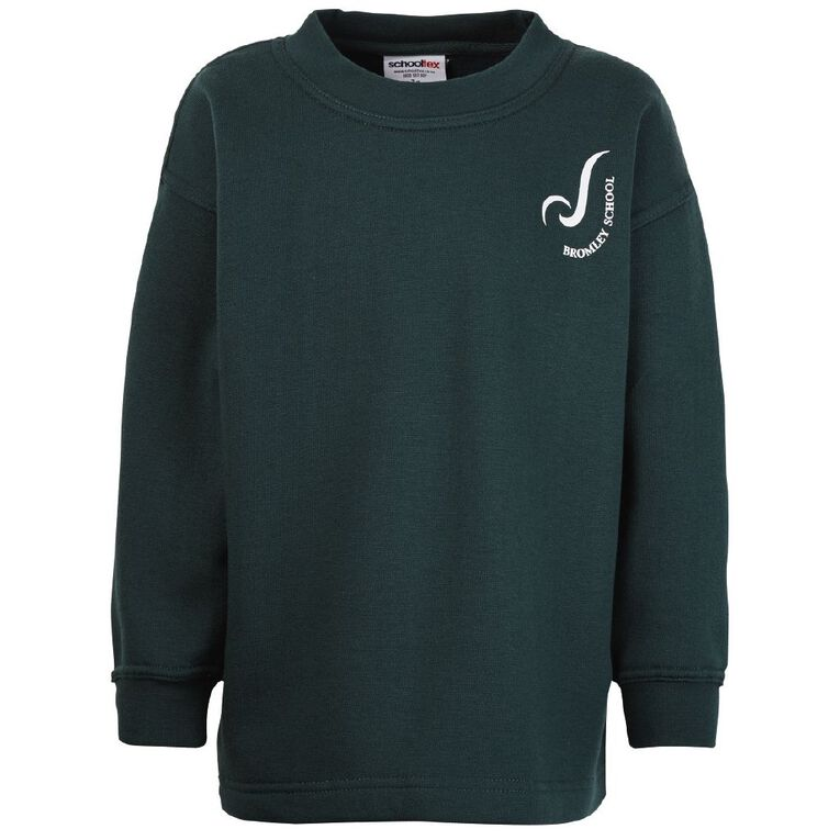 Schooltex Bromley Tunic with Screenprint, Bottle Green, hi-res