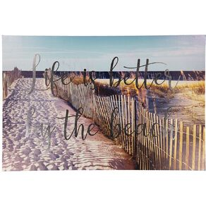 Living & Co Better By The Beach Canvas 90 x 60 x 1.8cm