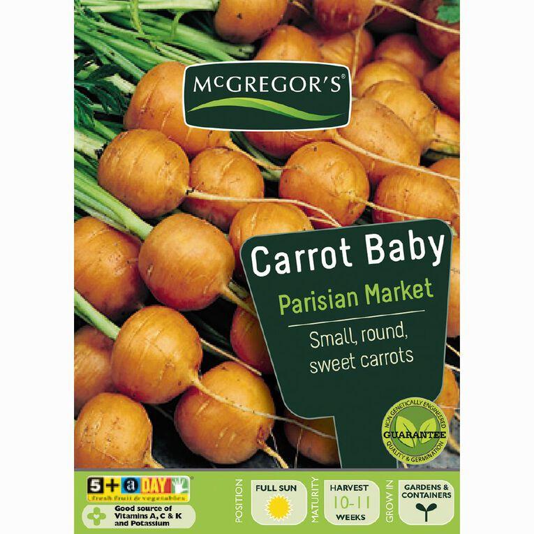 McGregor's Baby Parisian Market Carrot Vegetable Seeds, , hi-res