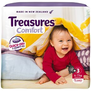 Treasures Jumbo Crawler Nappies 76 Pack