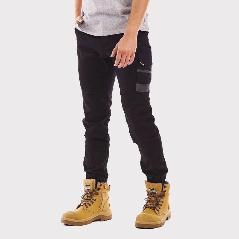 Tradie Cuffed Skinny Cargo Pants, Black, hi-res