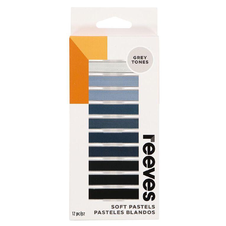 Reeves Soft Pastels Grey 12 Pack, , hi-res