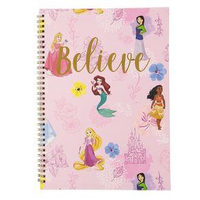 Disney Princess Spiral Notebook Believe Pink A4