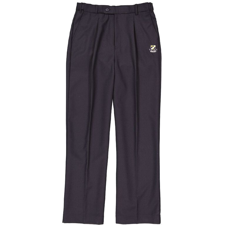Schooltex Onewhero Area School Polyester Wool Trousers with Embroidery, Ink, hi-res