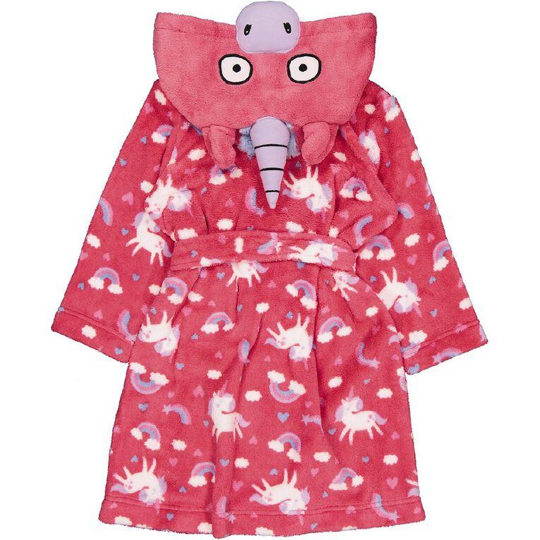 H&H Kids' Unicorn Robe, Pink, hi-res