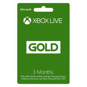 Xbox Live Gold 3M NZ POSA
