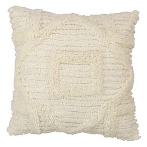 Living & Co Edith Tufted Cushion Peach Whip 45cm x 45cm