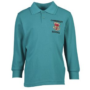 Schooltex Camberley Long Sleeve Polo with Embroidery