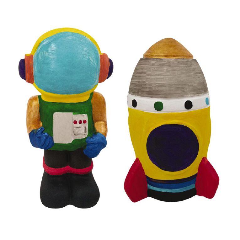 Kookie Paint Your Own Astronaut & Rocket 2 Pack, , hi-res