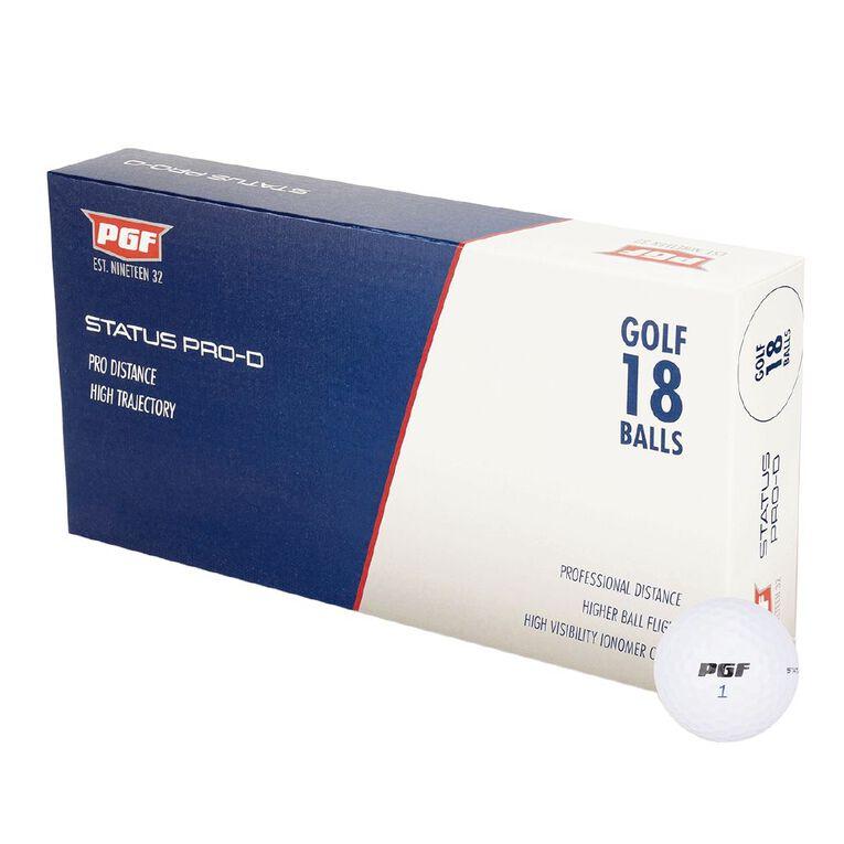 PGF Status Pro D Golf Balls 18 Pack, , hi-res
