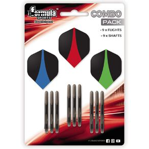 Formula Sports Combo Pack with 3 Ultra Flights and 3 Ring Grip Shafts
