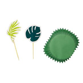 Party Inc Tropical Cupcake Topper Kit 12 Pack
