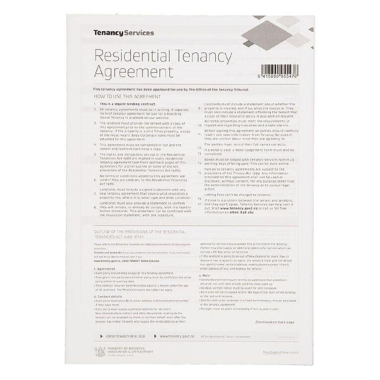 Tenancy Agreement Form, , hi-res