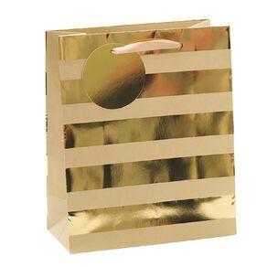 John Sands Gift Bag Stripes Gold Medium