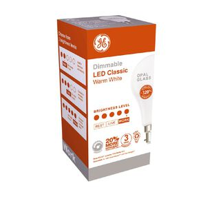 General Electric B22 LED Dimmable Classic 10.5W Warm White Light Bulb