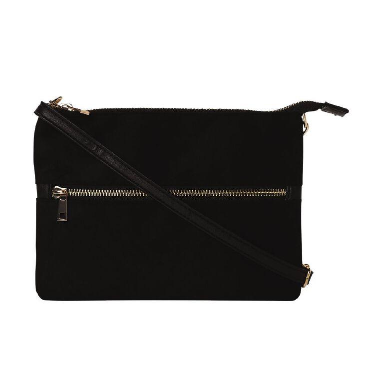 H&H Clutch Xbody Handbag, Black, hi-res