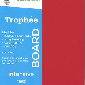 Trophee Board 210gsm 12 Pack Intensive Red A4