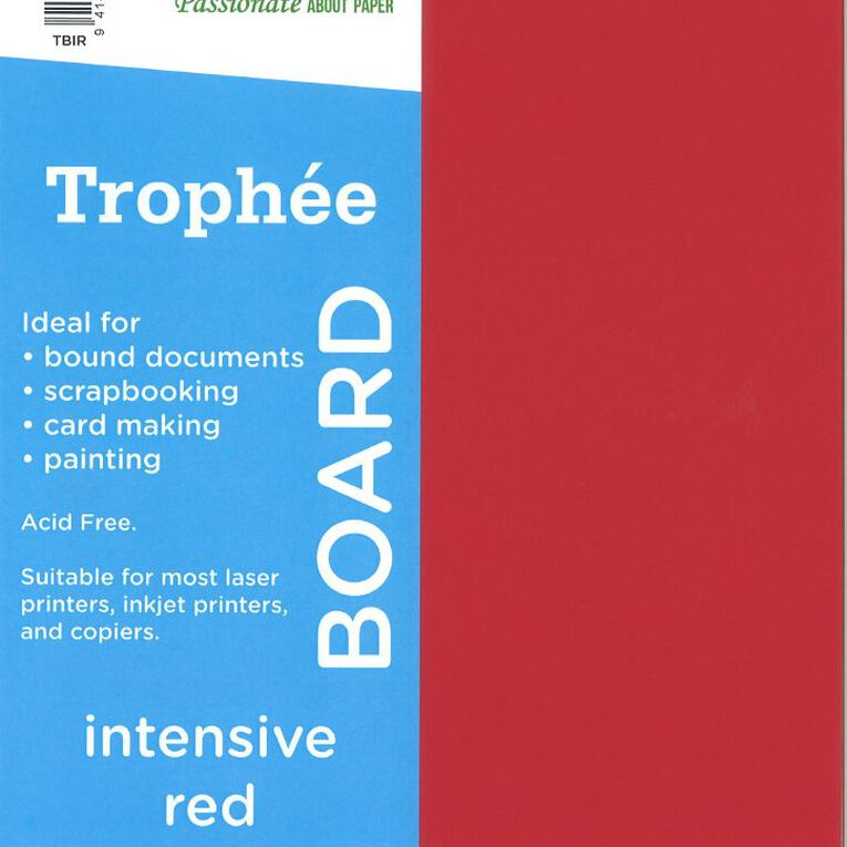 Trophee Board 210gsm 12 Pack Intensive Red A4, , hi-res