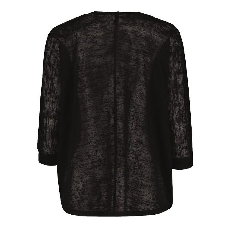 H&H Women's Batwing Slub Cardigan, Black, hi-res image number null