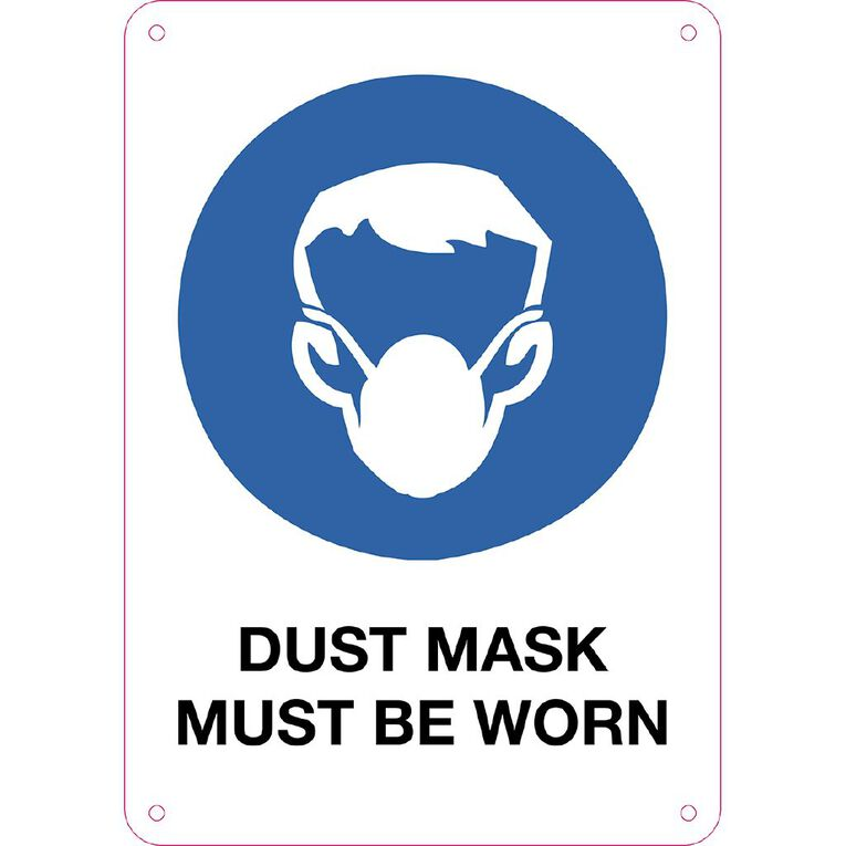 WS Dusk Mask Must be Worn Sign Small 340mm x 240mm, , hi-res
