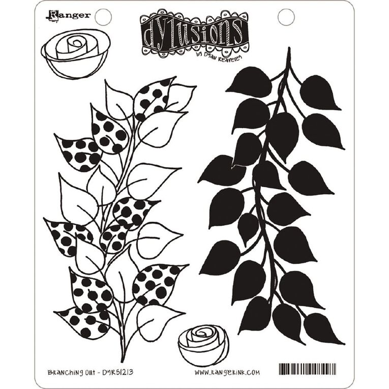 Ranger Dylusions Stamp Branching Out, , hi-res