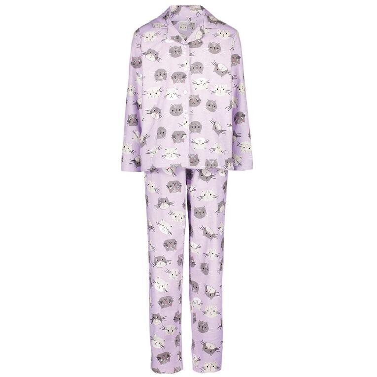 H&H Kids' Flannelette Pyjamas, Purple, hi-res image number null