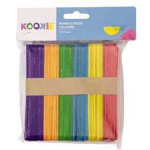 Kookie Pop Sticks Coloured Multi-Coloured 100 Pack