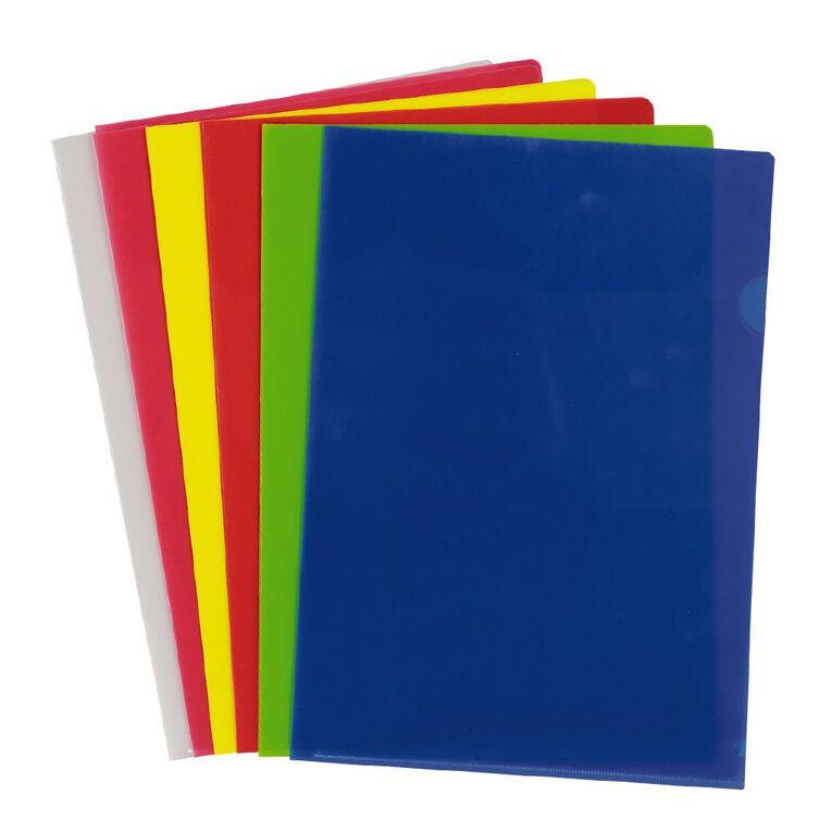 WS L-Shaped Pockets 12 Pack Assorted A4, , hi-res