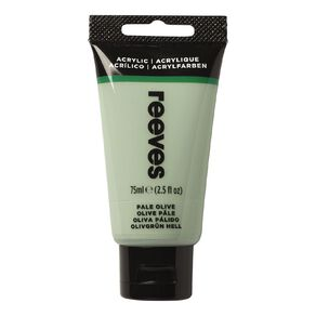 Reeves Fine Acrylic 75ml Pale Olive 450 75ml