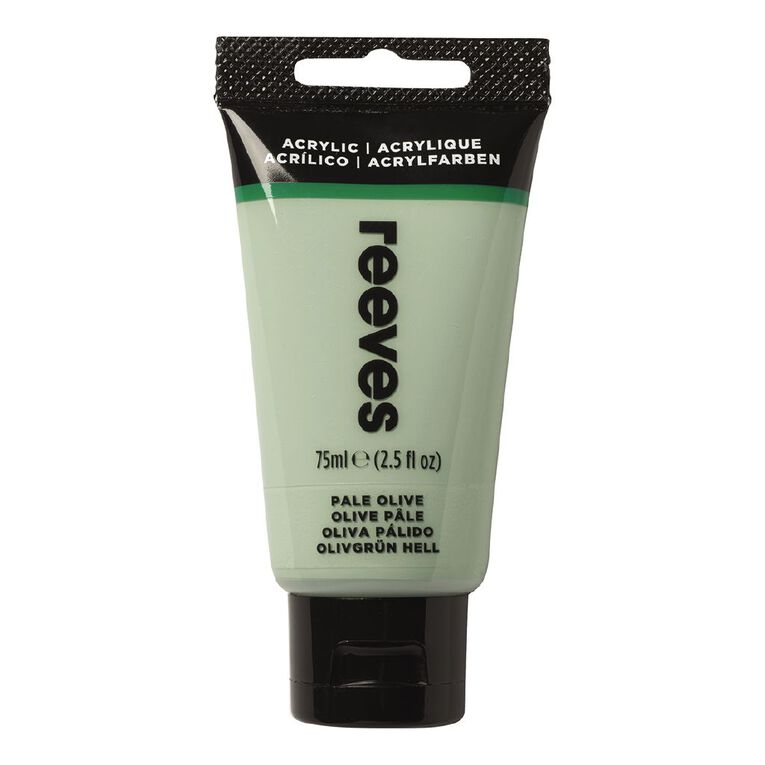 Reeves Fine Acrylic 75ml Pale Olive 450 75ml, , hi-res