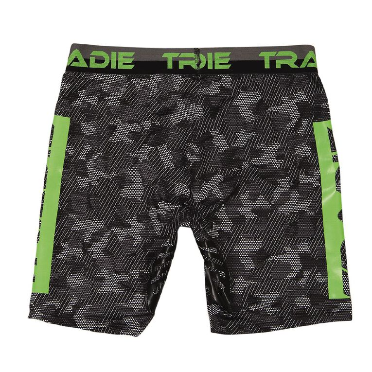 Tradie Men's Long Leg Trunks, Grey, hi-res