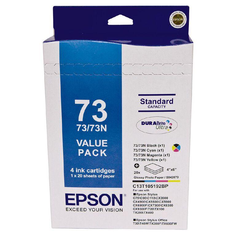 Epson Ink 73N Photo Value 4 Pack, , hi-res