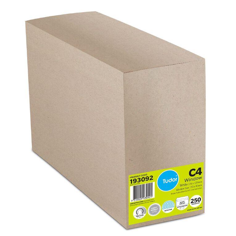 Tudor Envelope C4 Window 250 Box White, , hi-res