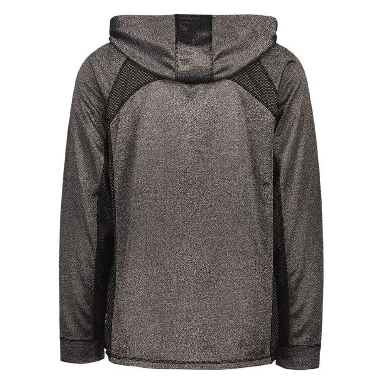 Active Intent Men's Cooldry Zip-Thru Sweatshirt, Charcoal/Marle, hi-res image number null