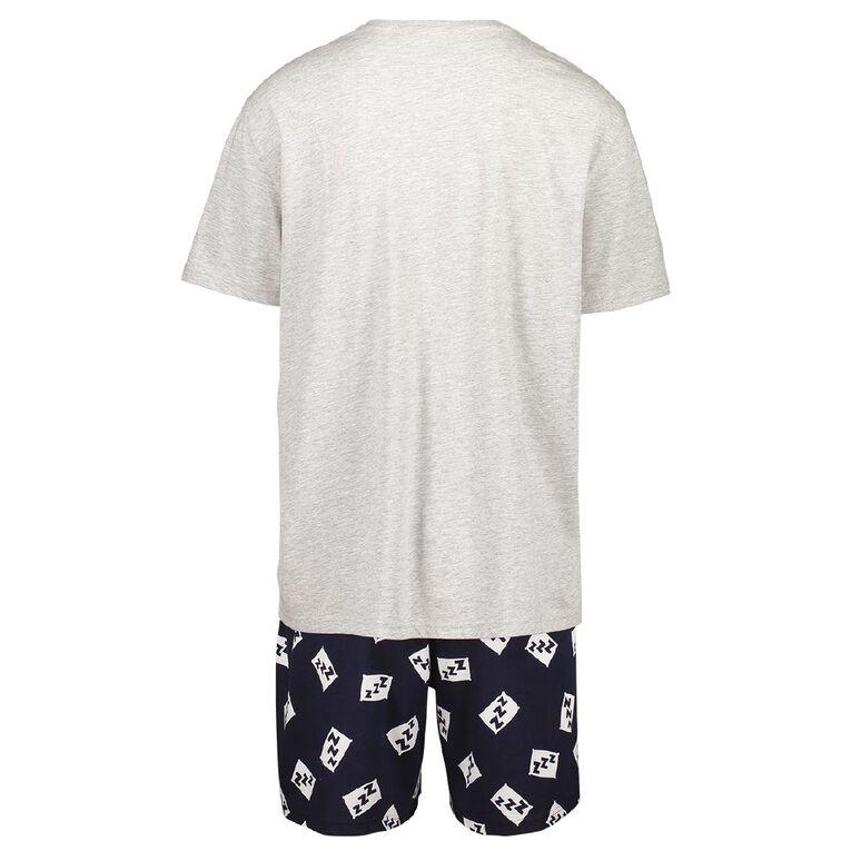 H&H Men's Shorts Pyjama Set, Grey, hi-res