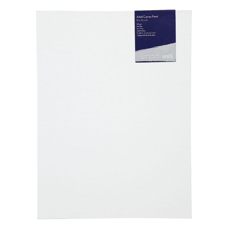 Uniti Platinum Canvas Panel 12x16 Inches 380Gsm, , hi-res