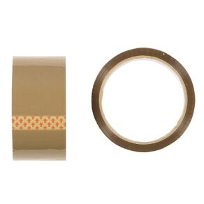 No Brand Packaging Tape Tan 48mm x 50m 2 Pack