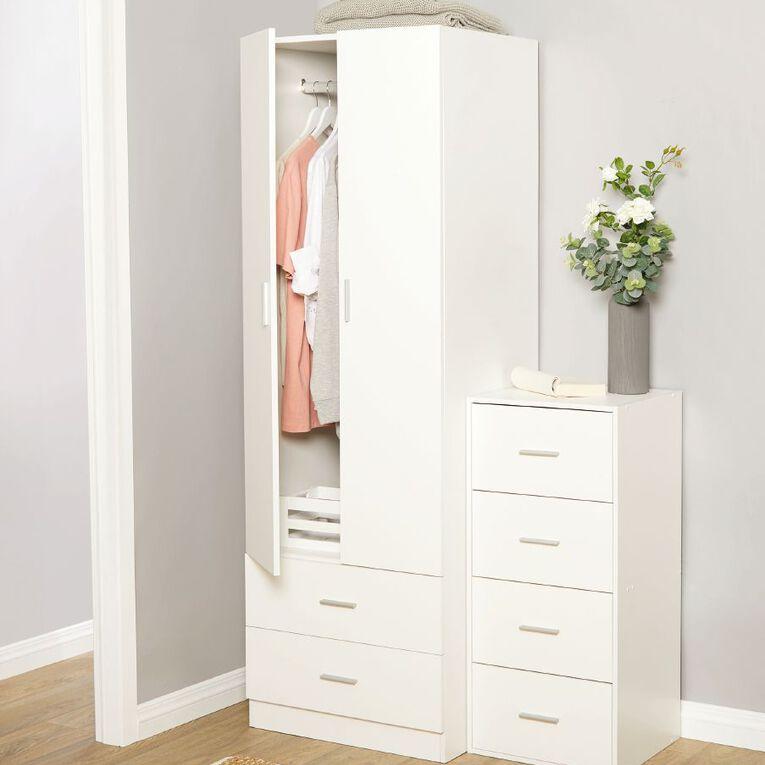 Living & Co Wardrobe Cabinet 2 Door & Drawers, , hi-res
