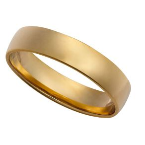 9ct Gold Barrel Wedding Ring 5mm