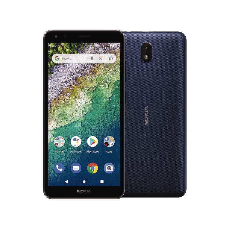 Spark Nokia C01 Plus 16GB 4G Sim Bundle Blue, , hi-res