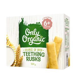 Only Organic Teething Rusks 100g
