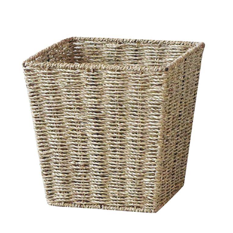 Living & Co Madrid Seagrass Square Basket Natural, , hi-res