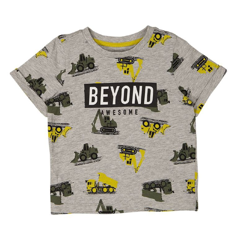 Young Original Toddler All Over Print Placement Tee, Grey Mid, hi-res