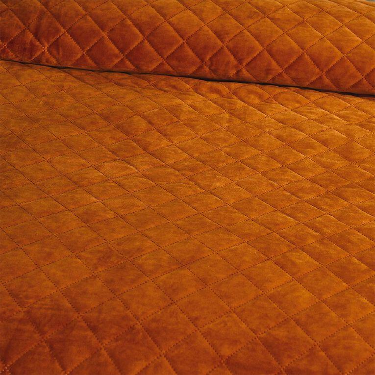 Living & Co Coverlet Velvet Leather Brown Queen/ King, , hi-res