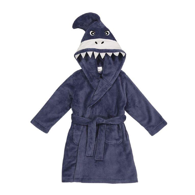 H&H Kids' Shark Robe, Grey, hi-res