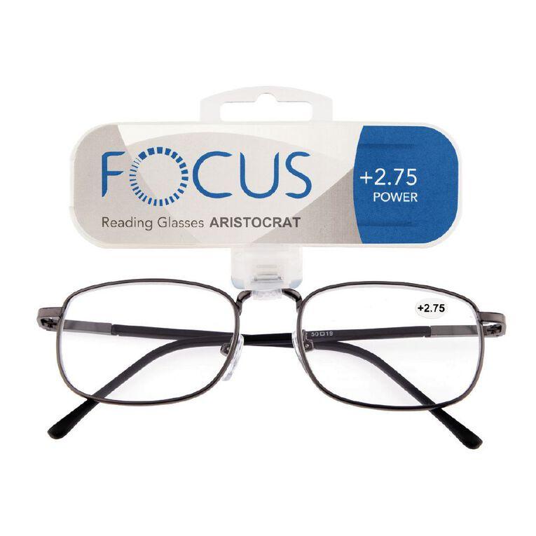 Focus Reading Glasses Aristocrat Power 2.75, , hi-res
