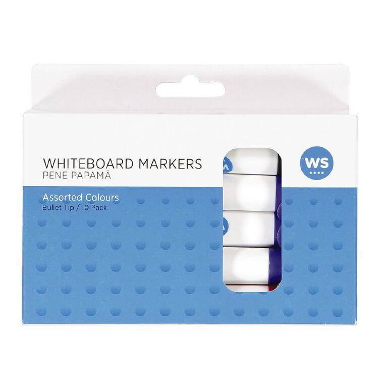 WS Whiteboard Marker Bullet 10 Pack Assorted, , hi-res