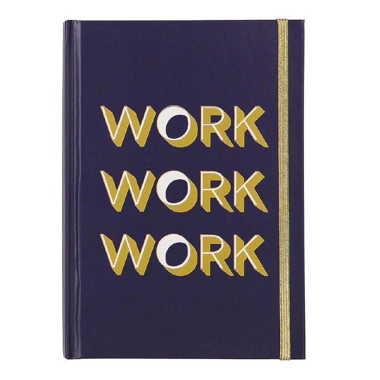 Uniti Fun & Funky Q4 Hardcover Notebook Work Work Work Navy A5, , hi-res