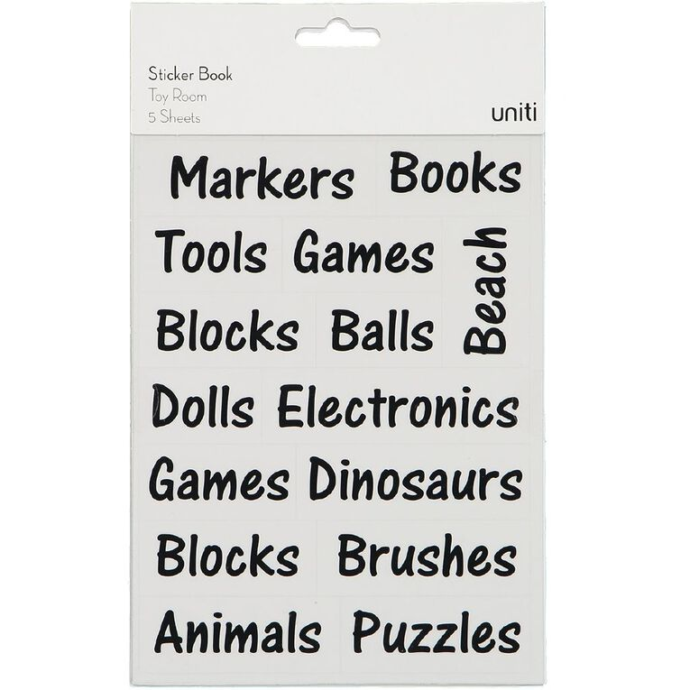 Uniti Sticker Book Toy Room, , hi-res