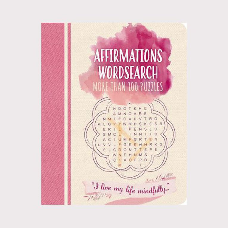 Affirmations Wordsearch by Eric Saunders, , hi-res